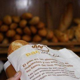 Barras de pan en una panadería