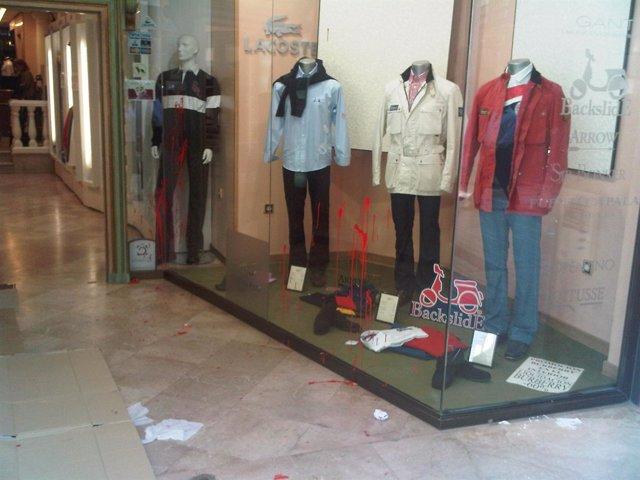 Imagen de uno de los comercios de Huelva afectados
