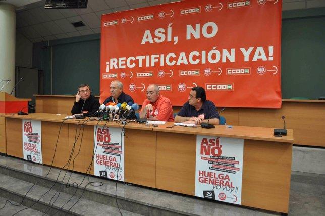 Rueda de prensa de Pastrana y Carbonero para valorar el seguimiento de la huelga