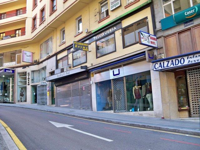 Comercios cerrados de Santander