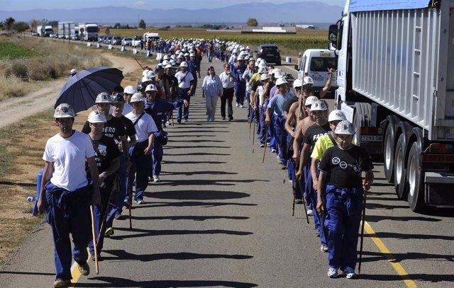 Manifestación de los mineros del carbón