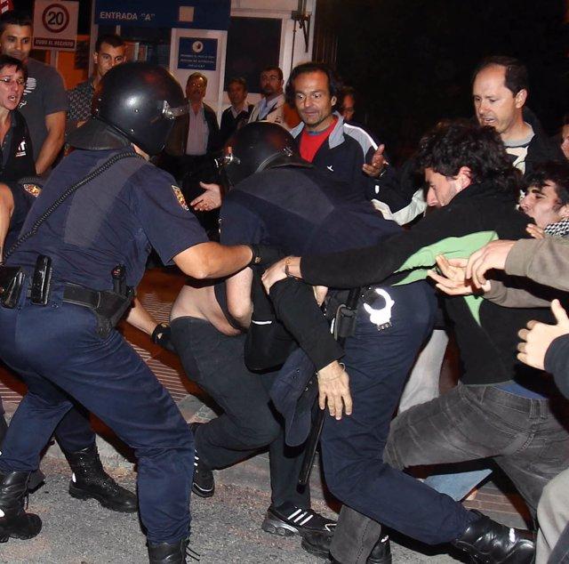 Detenciones de la Policía durante la huelga general