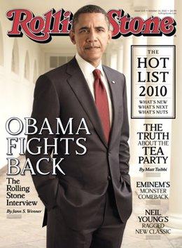 El presidente Barack Obama en la portada de la Rolling Stone