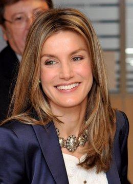 La princesa de Asturias, Letizia Ortiz, visita Onda Cero
