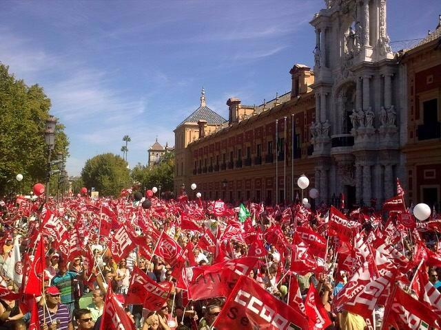 Momento de la manifestación de Sevilla