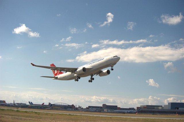 Uno de los nuevos aviones de la aerolínea Turkish Airlines