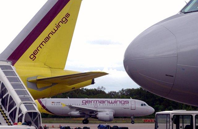 Aviones de la aerolínea alemana Germanwings
