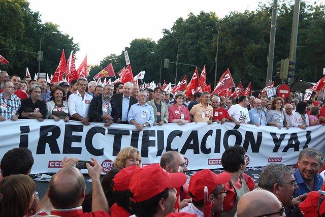 Manifestación en Madrid por la huelga general
