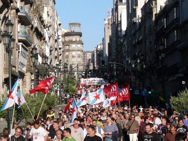 Manifestantes en Galicia