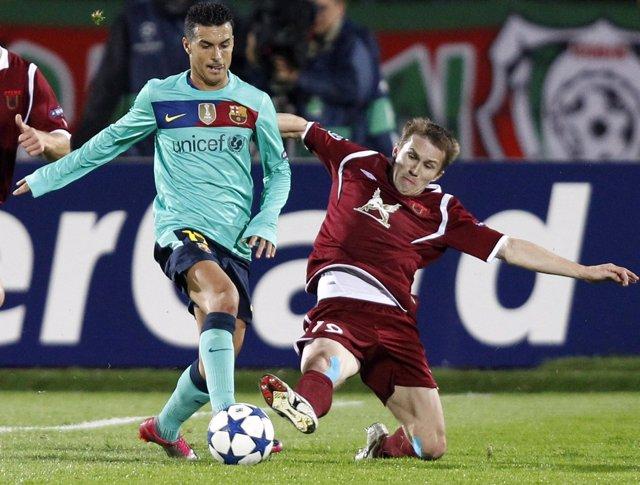 El Barça empató en Kazan