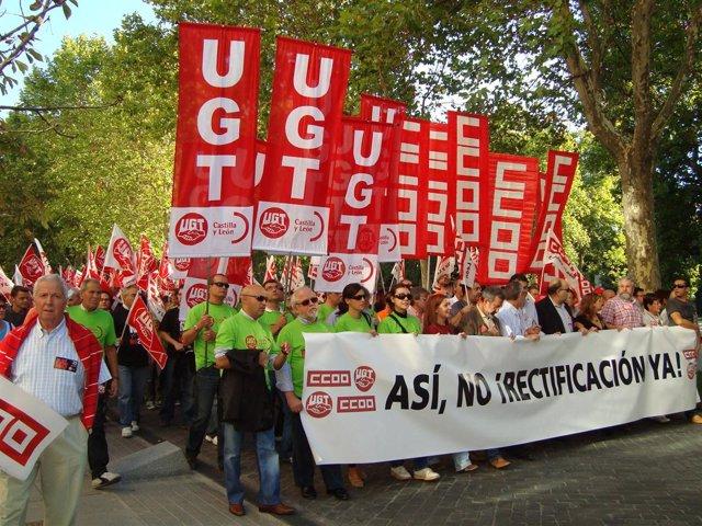 La manifestación en Valladolid.