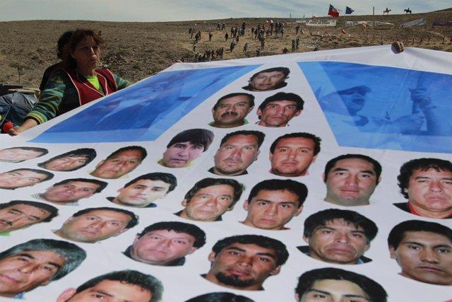 33 mineros atrapados en una mina en Chile