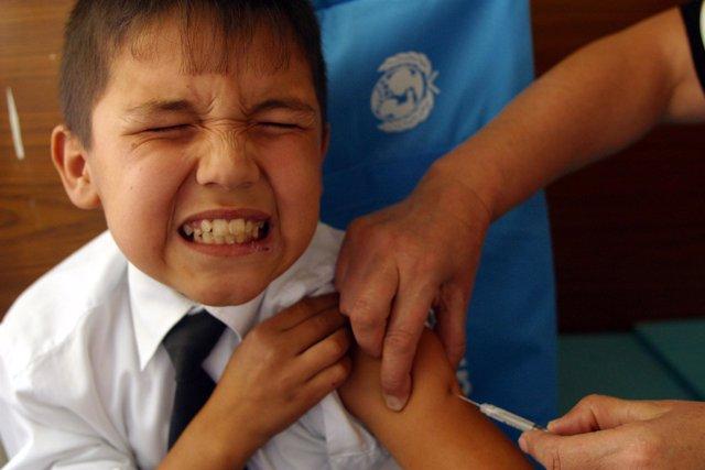Vacuna, niño, gripe