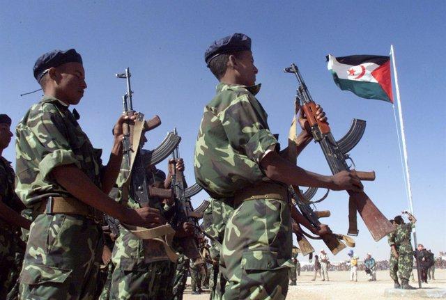 El Frente Polisario durante un desfile militar