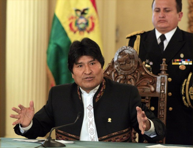 El presidente boliviano, Evo Morales, en rueda de prensa.