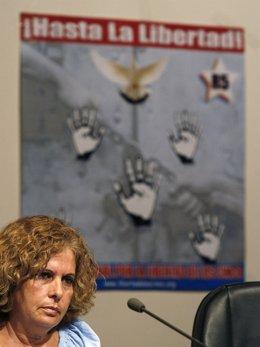 Olga Salanueva, esposa de uno de los cinco presos cubanos en Estados Unidos