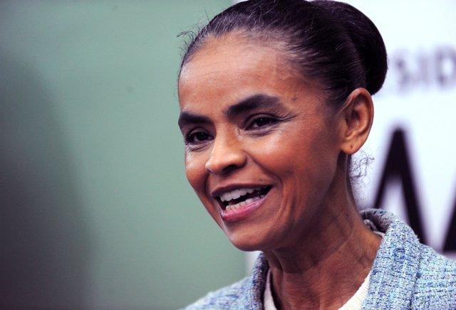 La ex candidata presidencial del Partido Verde, Marina Silva.