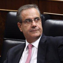 Celestino Corbacho, en el Congreso de los diputados
