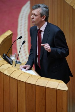 Alfonso Rueda en el Parlamento
