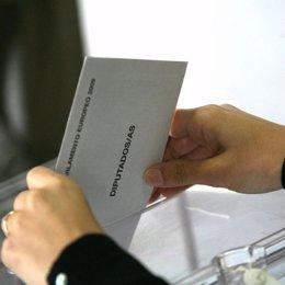 Voto en las elecciones europeas