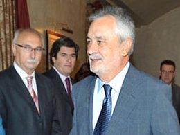 El presidente de la Junta, José Antonio Griñán, este miércoles en Jerez de la Fr