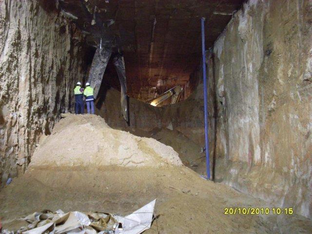 Las obras de excavación del túnel en el Pinar de Antequera
