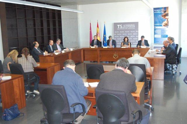 Reunión de los presidentes de los tribunales superiores de Justicia de España