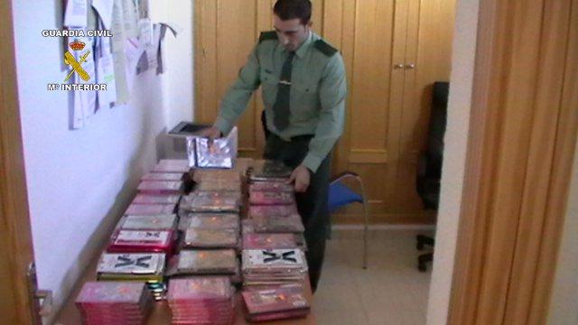 Películas pornográficas intervenidas en Albox, Almería.
