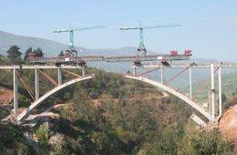 obras en un viaducto