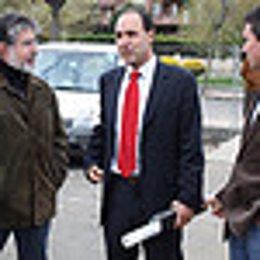Diego en su visita a Castro Urdiales.