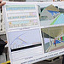 Planos de las obras junto al Estadio Riomar.
