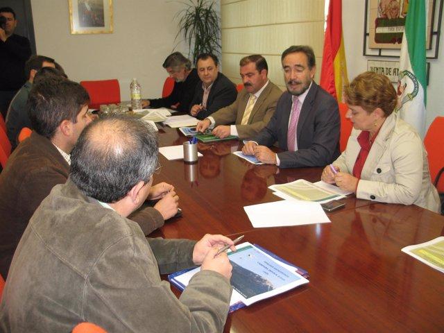 El delegado de la Junta en Jaén, Felipe López, preside la reunión del Comité Ase