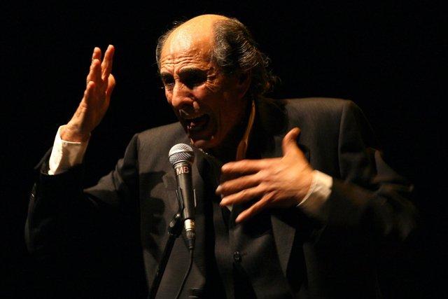 Imagen de 'El Gallina' durante una actuación