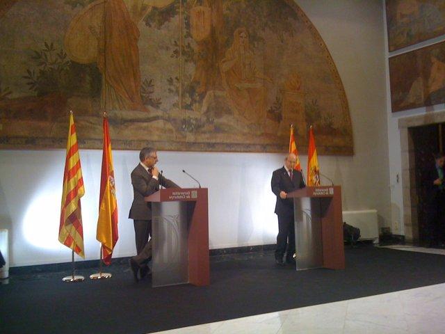 Comparecencia del ministro Blanco y el presidente Montilla