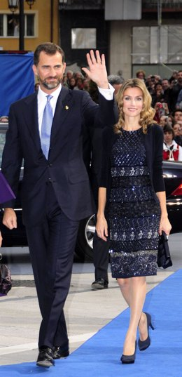 Príncipes de Asturias en la entrega de los premios Príncipes de Asturias 2009