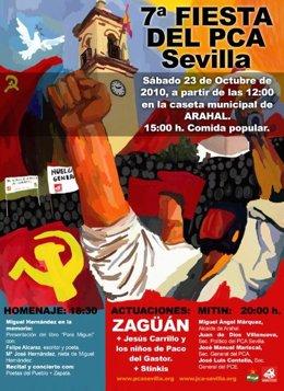 Cartel de la VII Fiesta del PCA de Sevilla