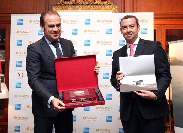 Gabriel Escarrer, vicepresidente y consejero delegado de Sol Meliá, y Rafael Már