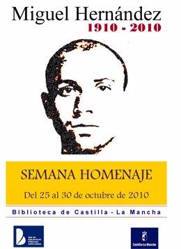 Imagen de la promoción institucional de la Semana Homenaje a Miguel Hernández