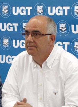 El secretario general de UGT de Navarra, Juan Goyen.