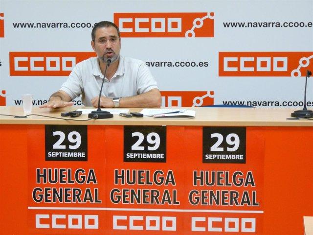 José María Molinero, secretario general de CCOO de Navarra.