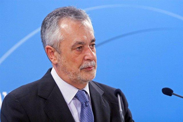 José Antonio Griñán, En Rueda De Prensa