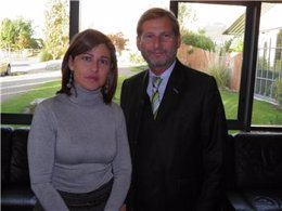 Pallero y el comisario de Política Regional
