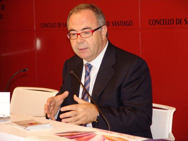 El alcalde de Santiago de Compostela, Xosé Sánchez Bugallo