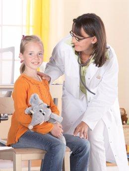 Pediatra, niño, médico, consulta