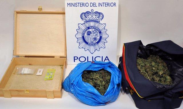Marihuana incautada en Huesca