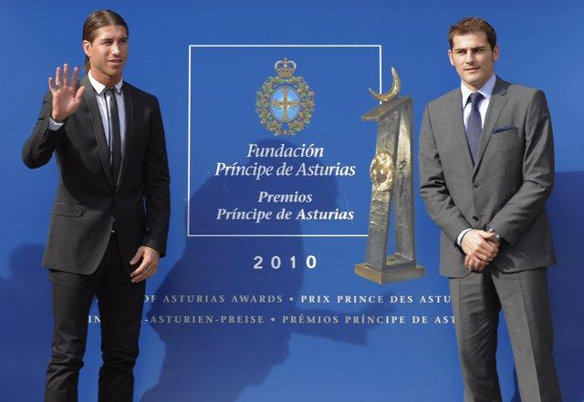 Íker Casillas y Sergio Ramos
