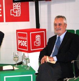Griñán, durante un acto del PSOE-A