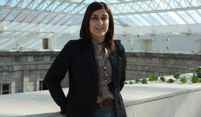 María José Sáenz de Buruaga en el Parlamento cántabro
