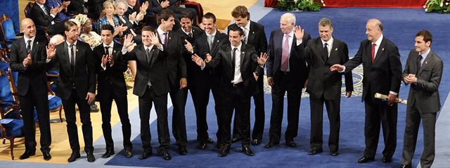 La selección española recibe el Príncipe de Astúrias