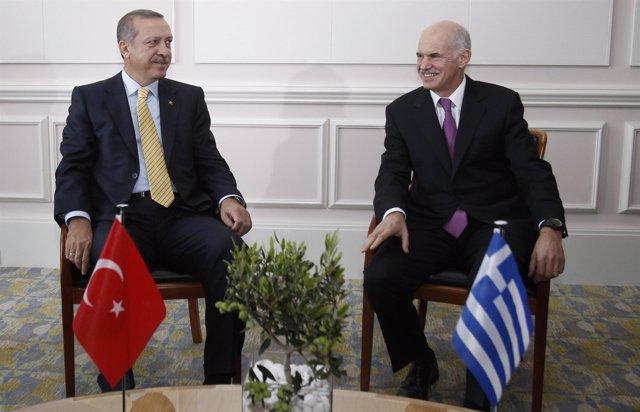 Erdogan y Papandreou